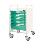Vista 50 Trolley with 4 single & 1 double depth tray