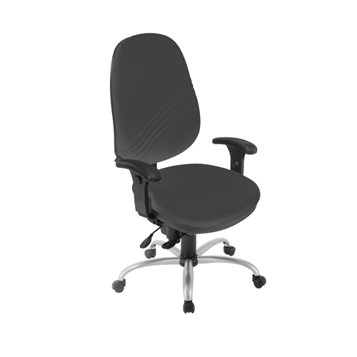 Deluxe Operator Chair Anti-bacterial (Inter/vene) Upholstery - Black
